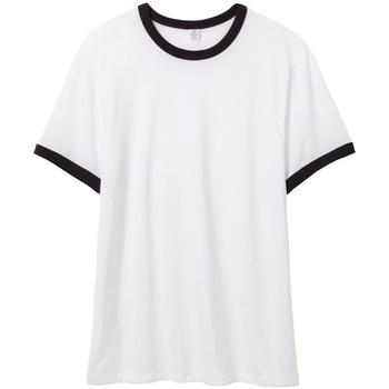 Abbigliamento Uomo T-shirt maniche corte Alternative Apparel AT013 Bianco/Nero