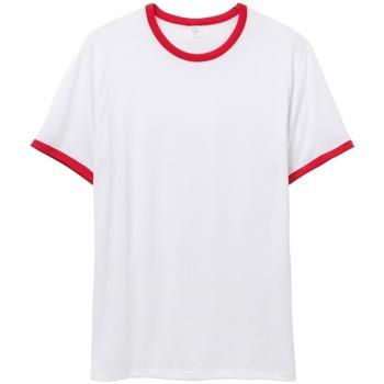 Abbigliamento Uomo T-shirt maniche corte Alternative Apparel AT013 Bianco/Rosso