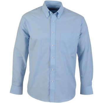 Abbigliamento Uomo Camicie maniche lunghe Absolute Apparel  Azzurro