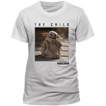 Abbigliamento T-shirt maniche corte Star Wars: The Mandalorian  Bianco