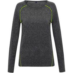 Abbigliamento Donna T-shirts a maniche lunghe Tridri TR040 Grigio screziato
