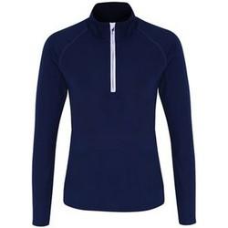 Abbigliamento Donna T-shirts a maniche lunghe Tridri TR120 Blu navy/Bianco