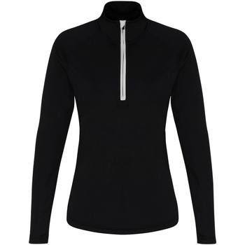 Abbigliamento Donna T-shirts a maniche lunghe Tridri TR120 Nero/Bianco