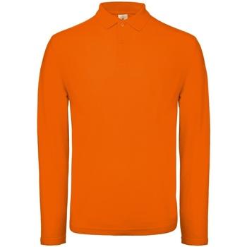 Abbigliamento Uomo Polo maniche lunghe B And C PUI12 Arancione brillante