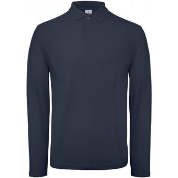 Abbigliamento Uomo Polo maniche lunghe B And C PUI12 Blu marino