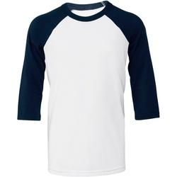 Abbigliamento Donna T-shirt maniche corte Bella + Canvas BE218 Bianco/Blu Navy