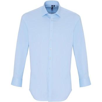 Abbigliamento Uomo Camicie maniche lunghe Premier PR244 Blu