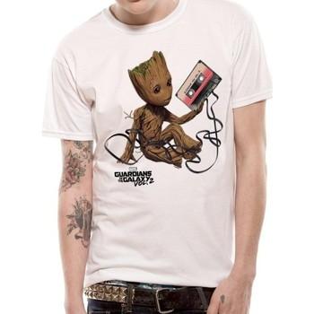 Abbigliamento T-shirt & Polo Guardians Of The Galaxy 2  Bianco