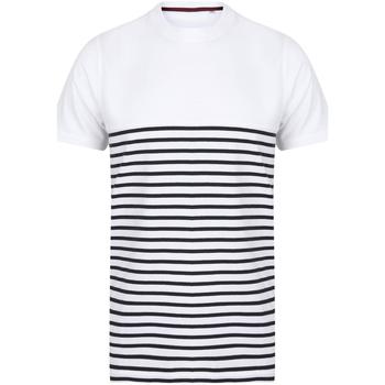 Abbigliamento T-shirt & Polo Front Row FR135 Bianco/Blu navy