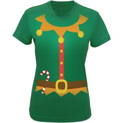Abbigliamento Donna T-shirt & Polo Christmas Shop CS143 Verde