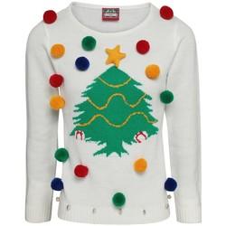 Abbigliamento Donna Felpe Christmas Shop CJ102 Bianco