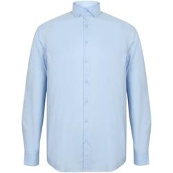 Abbigliamento Uomo Camicie maniche lunghe Henbury HB532 Azzurro