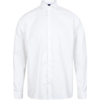 Abbigliamento Uomo Camicie maniche lunghe Henbury HB532 Bianco