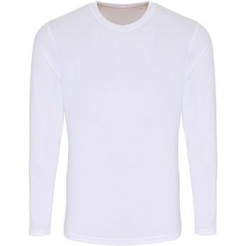 Abbigliamento Uomo T-shirts a maniche lunghe Tridri TR050 Bianco