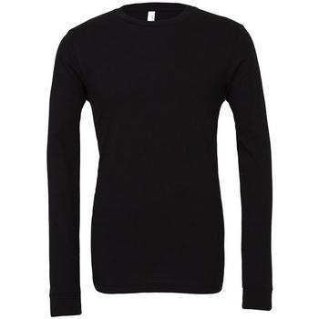 Abbigliamento T-shirts a maniche lunghe Bella + Canvas CA3501 Nero