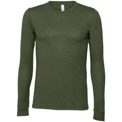 Abbigliamento T-shirts a maniche lunghe Bella + Canvas CA3501 Verde