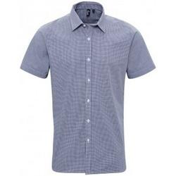 Abbigliamento Uomo Camicie maniche corte Premier PR221 Blu navy/Bianco