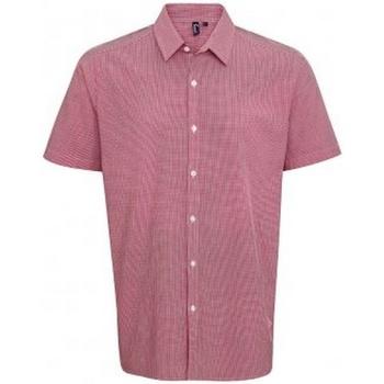 Abbigliamento Uomo Camicie maniche corte Premier PR221 Rosso