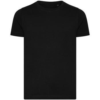 Abbigliamento Unisex bambino T-shirt maniche corte Ecologie EA001B Nero