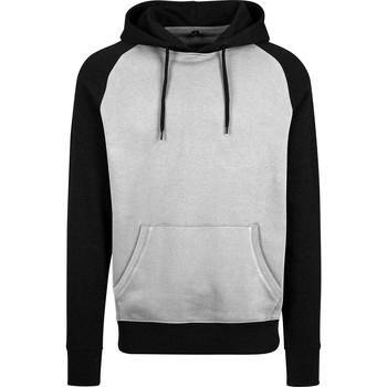 Abbigliamento Uomo Felpe Build Your Brand BY077 Grigio/Nero