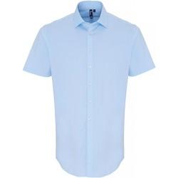 Abbigliamento Uomo Camicie maniche corte Premier PR246 Blu