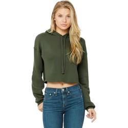 Abbigliamento Donna Felpe Bella + Canvas BE7502 Verde Militare