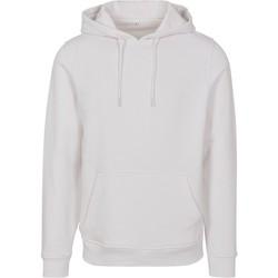 Abbigliamento Uomo Felpe Build Your Brand BY084 Bianco