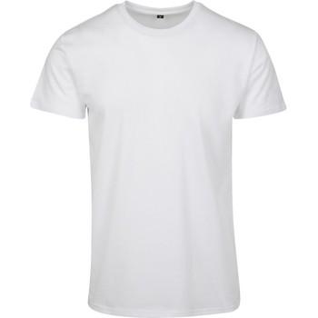Abbigliamento Uomo T-shirt maniche corte Build Your Brand BY090 Bianco