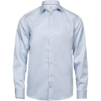 Abbigliamento Uomo Camicie maniche lunghe Tee Jays TJ4020 Azzurro