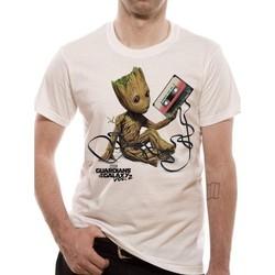 Abbigliamento T-shirt maniche corte Guardians Of The Galaxy 2  Bianco