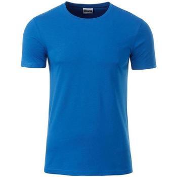 Abbigliamento Uomo T-shirt maniche corte James And Nicholson  Cobalto