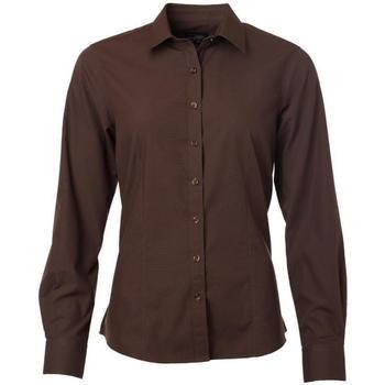 Abbigliamento Donna Camicie James And Nicholson  Marrone