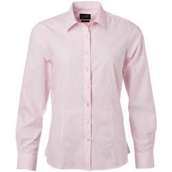 Abbigliamento Donna Camicie James And Nicholson  Rosso