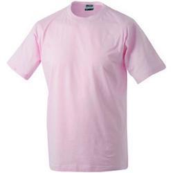 Abbigliamento T-shirt maniche corte James And Nicholson  Rosa chiaro
