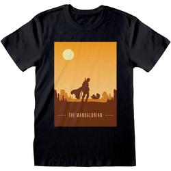 Abbigliamento T-shirt maniche corte Star Wars: The Mandalorian  Nero