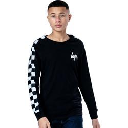 Abbigliamento Unisex bambino T-shirts a maniche lunghe Hype  Nero/Bianco