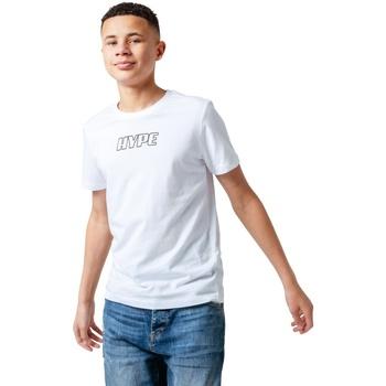 Abbigliamento Unisex bambino T-shirt maniche corte Hype  Bianco