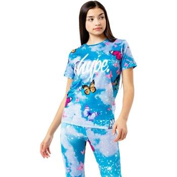 Abbigliamento Unisex bambino T-shirt maniche corte Hype  Azzurro cielo
