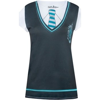 Abbigliamento Donna T-shirt maniche corte Harry Potter  Nero/Bianco