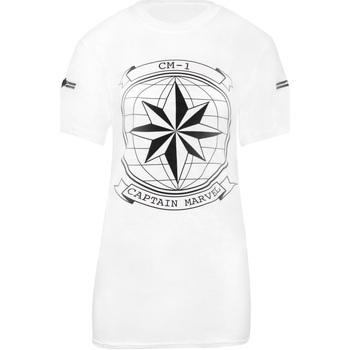 Abbigliamento Donna T-shirt maniche corte Captain Marvel  Nero