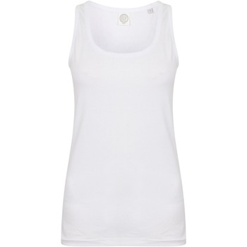 Abbigliamento Donna Top / T-shirt senza maniche Skinni Fit SK123 Bianco