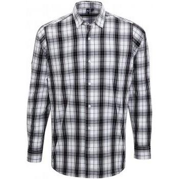 Abbigliamento Uomo Camicie maniche lunghe Premier PR254 Nero/Bianco