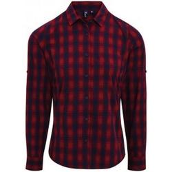 Abbigliamento Donna Camicie Premier PR350 Rosso/Blu scuro