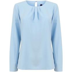Abbigliamento Donna T-shirts a maniche lunghe Henbury HB598 Azzurro