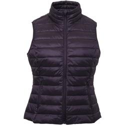 Abbigliamento Donna Gilet / Cardigan 2786 TS31F Melanzana