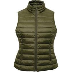 Abbigliamento Donna Gilet / Cardigan 2786 TS31F Oliva