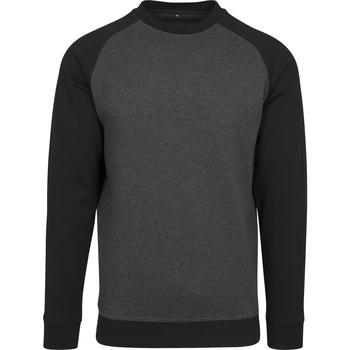 Abbigliamento Uomo T-shirts a maniche lunghe Build Your Brand BY076 Nero