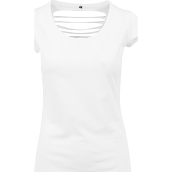 Abbigliamento Donna T-shirt maniche corte Build Your Brand BY035 Bianco
