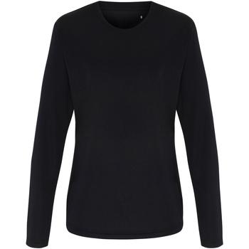 Abbigliamento Donna T-shirts a maniche lunghe Tridri TR060 Nero