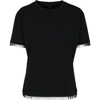 Abbigliamento Donna T-shirt maniche corte Build Your Brand BY124 Nero